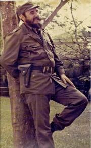 Fidel posa para el fotógrafo. Foto: Pablo Caballero