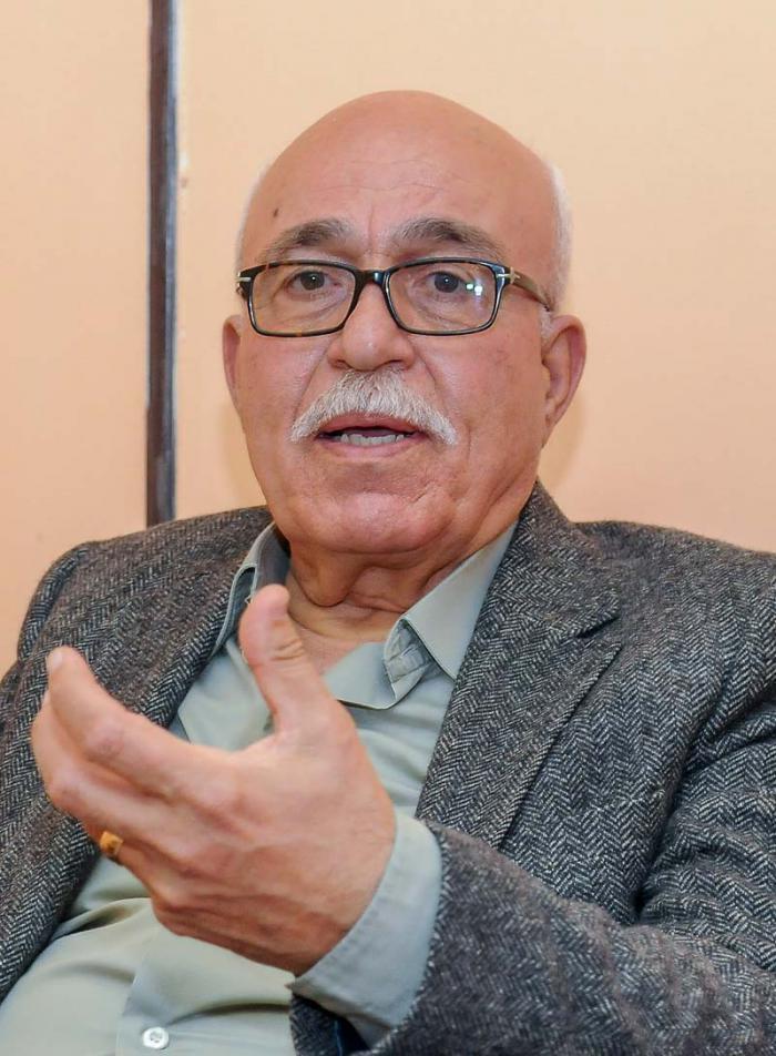 Saleh Raafat, miembro del Comité Ejecutivo de la Organización para la Liberación de Palestina (OLP). Foto: Jose M. Correa