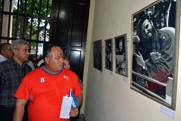 Primer secretario del Partido Comunista de Cuba en Granma, en la inauguración de la exposición fotográfica Por Siempre Fidel, en la ciudad de Bayamo, provincia Granma.