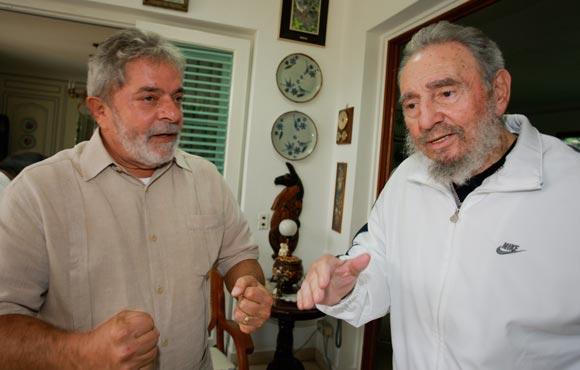 Resultado de imagen para Luiz Inácio Lula da Silva y fidel