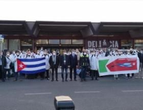 Cuban doctors arrive in Italy to join the fight Covid-19. Photo: RT