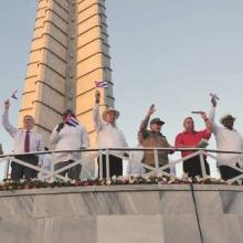 Raúl y Díaz-Canel presidieron las celebraciones por el 1ro. de mayo en la Plaza de la Revolución José Martí. Autor: Estudios Revolución Publicado: 01/05/2019