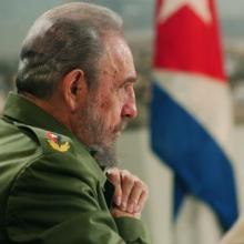 Fidel Castro en el programa televisivo Mesa Redonda