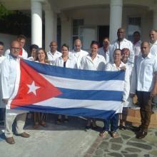 """a Brigada Médica """"Henry Reeve"""" en San Vicente y las Granadinas. Foto: CubaMinrex."""