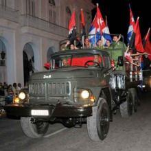 Jóvenes reeditan la Caravana de la Libertad en Cienfuegos