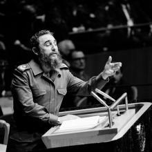 Fidel Castro Ruz, líder de la Revolución cubana, habla ante la Asamblea General de la ONU en octubre de 1979.