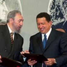 Fidel Castro Ruz y Hugo Chávez Frías