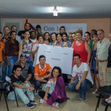 Prensa camagüeyana en la casa natal de Fidel