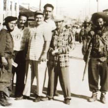 El Vaquerito (primero a la izquierda) en los días de la batalla de Santa Clara
