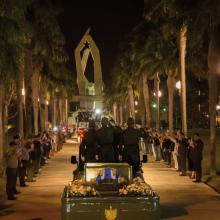 La llegada del cortejo a la plaza Ignacio Agramonte fue uno de los momentos más solemnes