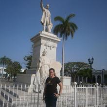 Un trabajo  sobre la recepción Martiana presentó la estudiante de tercer año de Relaciones Internacionales, de La Habana. Foto: Mireya Ojeda