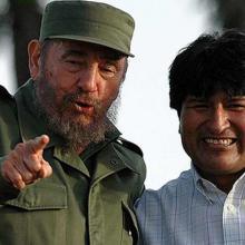 Fidel Castro Ruz junto a Evo Morales