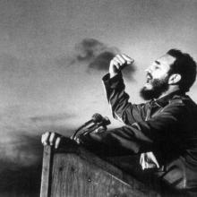 Fidel Castro, a master orator, delivers a speech circa 1960. Photo: Osvaldo Salas
