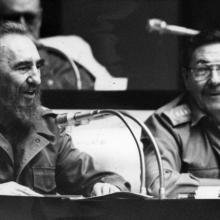 Fidel Castro und Raúl Castro in der Nationalversammlung der Volksmachten 1998, IV. Legislaturperiode. Photo: Juvenal Balán