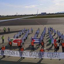 Seit ihrer Ankunft in Turin wurde der kubanischen Medizinbrigade Anerkennung entgegengebracht. Photo: Heidy Villuendas