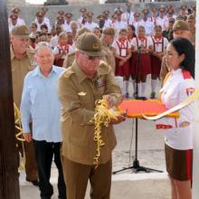 General de cuerpo de Ejército Álvaro López Miera, viceministro de las FAR, jefe del estado mayor general inauguró la exposicion fotográfica
