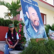 Naheed Ullah, joven inglesa rinde tributo a Fidel Castro