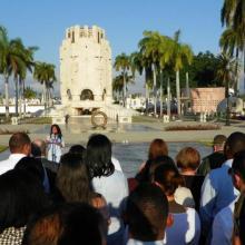 El Consejo de Dirección de la FGR y fiscales jefes de todos los municipios del país rindieron homenaje a Martí y Fidel. Foto: Eduardo Palomares