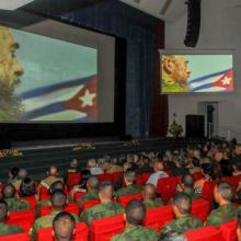 Velada político-cultural por el primer aniversario de la desaparición física del Comandante en Jefe, Fidel Castro Ruz. Foto: Jose M. Correa