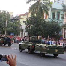 Caravana de la Libertad que traslada las cenizas de Fidel Castro Ruz a Santiago de Cuba