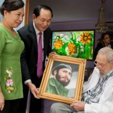 Fidel Castro Ruz y el Presidente de Vietnam,Tran Dai Quang
