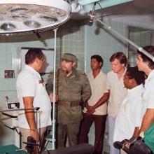 Fidel Castro en el hospital Julio Trigo