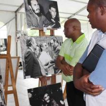 Exposición en Sudáfrica en homenaje a Fidel Castro Ruz