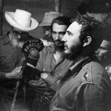 Fidel en Radio Rebelde.