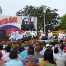 El aniversario 56 de la Victoria de Playa Girón fue conmemorado también con manifestaciones artísticas. Foto: Ventura de Jesús