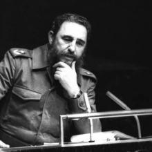 Fidel vertrat die Bewegung der Blockfreien Länder auf verschiedenen internationalen Bühnen. Kuba hatte den pro tempore Vorsitz von 1979 bis 1983 und von 2006 bis 2009 inne Foto: Joaquin Viñas