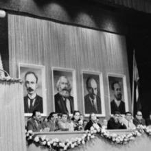Fidel durante la creación del Comité Central del PCC.
