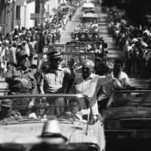 Recorrido de Fidel Castro por Cienfuegos