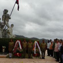 Las máximas autoridades de la provincia y pobladores del Tercer Frente asistieron a la conmemoración.