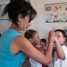 La instructora de danza prepara las coreografías a través del conteo. (Foto: Lauris Henriquez/ Escambray)
