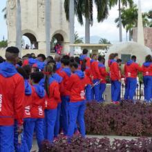 Foto: La delegación rindió tributo a Fidel, Martí, Mariana Grajales y Carlos Manuel de Céspedes. Foto: Eduardo Palomares