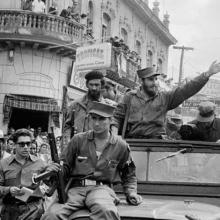 Fidel Castro en las inmediaciones del Parque Vidal, Villa Clara