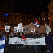 Multitudinario acto en Bilbao en honor a Fidel Castro Ruz