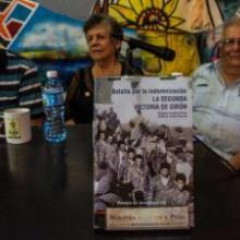 Presentación del libro La indemnización. La Segunda Victoria de Girón, de los autores Eugenio Suárez y Acela A. Caner (Foto: Marcelino Vázquez/ ACN)