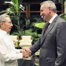 Raúl Castro y vicepresidente del gobierno de la Federación de Rusia, Dimitri O. Rogozin