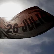 Bandera del Movimiento 26 de Julio. Foto: Ismael Francisco/ Cubadebate