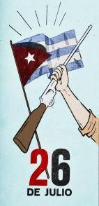 Cartel publicado en el periódico Revolución, en julio de 1960