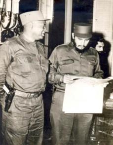 Sarría, en 1959, con Fidel en el Palacio Presidencial. Foto: Archivo de Granma