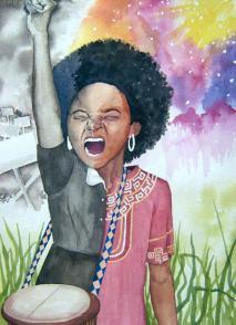 Obra de Lebogang Mashile.