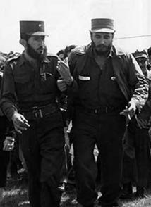 Fidel y Dermidio Escalona, jefe del Frente de Pinar del Río