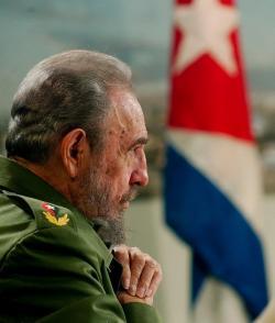 Fidel en la Mesa Redonda. Foto: Ismael Francisco / Cubadebate / Archivo