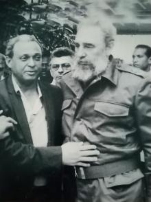 Fidel junto a Ramón Antonio Veras.