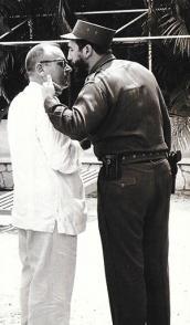 Fidel Castro junto con Miguel Ángel Quevedo