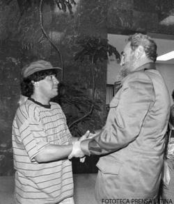 Junto a Diego Armando Maradona