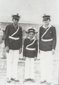 Fidel Castro Ruz, Raúl y Ramón. Colegio Dolores. Curso 1940-1941