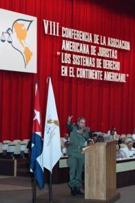 Palabras en la VIII Encuentro de la Asociación Americana de Juristas de Cuba